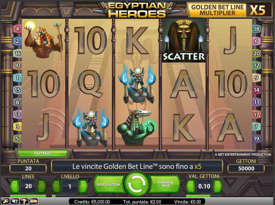 Egyptian Heroes - gratis online spilleautomat