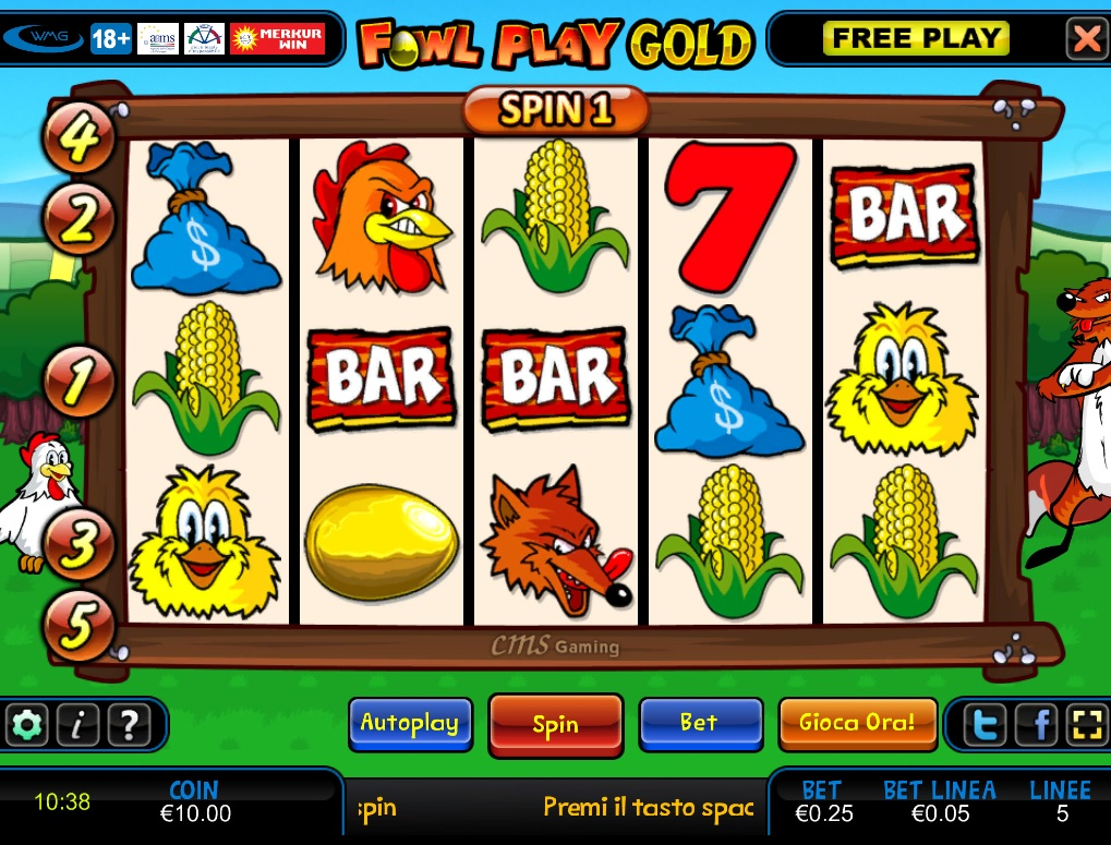 Slot machine online gratis da bar